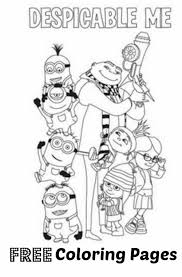 Small Picture FREE Despicable Me coloring pages Pginas para colorear Minions