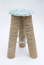 Studio Designs Retro Stool A Stool Made Of One Month Household Waste By Charlotte Allen