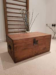 coffee table stripped pine chest