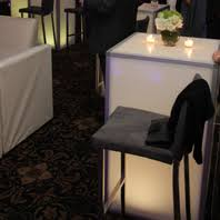 LED Cocktail Table Rental NYC NJ CT and Long Island