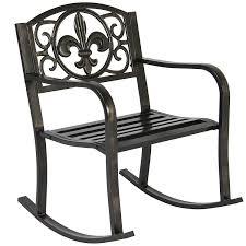 outdoor glider rocker. Amazon.com : Best Choice Products Metal Rocking Chair Seat For Patio, Porch, Deck, Outdoor W/Scroll Design - Bronze Garden \u0026 Glider Rocker W