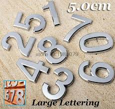 1pc chrome siver house door car address number digits numeral plate plaque sign size room gate badge sticker letter lettering on aliexpress alibaba