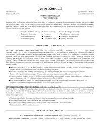Sales Resume Objective Amazing Car Salesman Resume Objective Sales Examples Salesperson Automotive