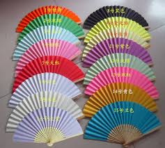diy luxurious fold paper fans bamboo ribs gift fan for party wedding decoration favors gifts