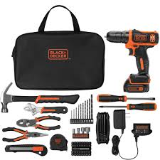 black and decker tools. black+decker 12-volt max lithium ion cordless drill with 64-piece project kit - walmart.com black and decker tools