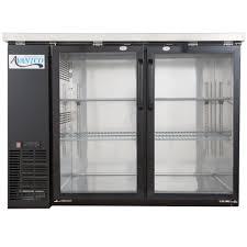115 volts avantco ubb 48g hc 48 inch black counter height narrow glass door back bar