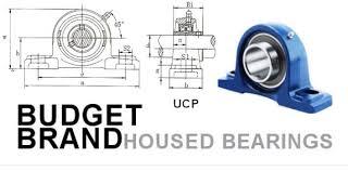 Pedestal Bearing Size Chart Ucp205 Budget Brand 2 Bolt Cast Iron Pillow Block Bearing King