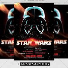 star wars template star wars premium a5 flyer template