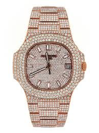 5711r Gold Rose 18 Philippe 18k 40mm – Iced Ctw Out Patek Fully Vladdys-diamonds Covered 00