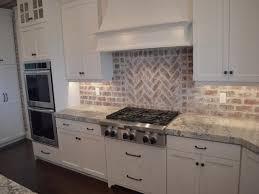 brick backsplash ideas. Brick Backsplash In The Kitchen Presented With Soft Colors Tile Ideas P