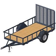 5x10 utility trailer plans 3500 lbs