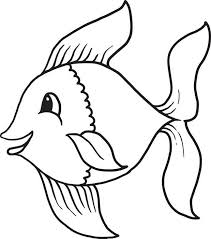 Cartoon Fish Coloring Page 1 Templates Fish Coloring Page