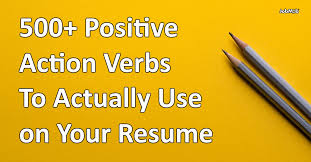 Verb List For Resumes