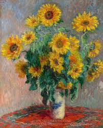 claude monet bouquet of sunflowers oil painting reion