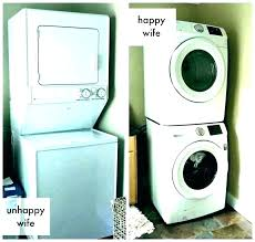 washer dryer cabinet closet and dimensions laundry stacked dimens