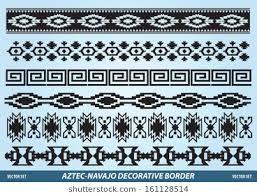 navajo border designs. Aztec Navajo Decorative Border Vector Set Designs