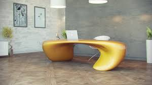 modern unique office desks. lightyellowfuturisticofficedeskwithwoodenfloor modern unique office desks e
