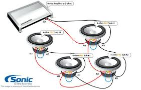 car audio sub and amp wiring diagram 4 ohm with 2 final amplifiers  at Car Amp Wire Diagram 4 Omh To 2 Omh