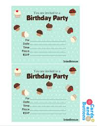 Can be customized to any age and any color. Free Printable Cute Birthday Invitations With Cupcakes