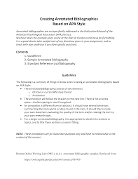Simple Annotated Bibliography Purdue Generator Templates At