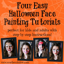 diy four easy face painting tutorials for kids and s