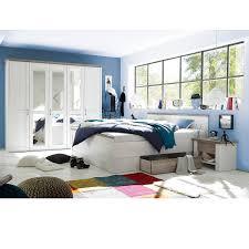 4 Teiliges Schlafzimmer Set Luca Pinie Weiß Trüffel