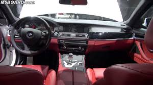 BMW 5 Series bmw 5 series red interior : BMW M5 F10 Sakhir Orange Full Leather vs 5-series Individual Full ...