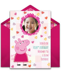 Electronic Birthday Invite Free Peppa Pig Online Invitations Punchbowl