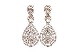 long diamond wedding earrings