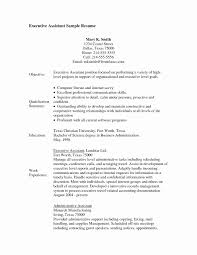 Personal Assistant Resume Elegant Administrative Assistant Objective