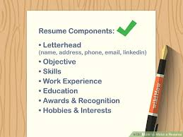 Resume How To Make A Resume With Pictures Wikihow