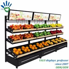 Fruit And Veg Display Stands Delectable China Supermarket Metal Iron Fruit And Vegetables Shelving Slanted