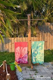 outdoor pool towel hooks diy outdoor standing towel rack