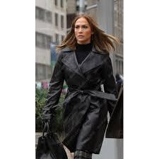 second act jennifer lopez leather coat