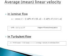 average mean linear velocity