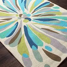 jaipur rugs colours flowerburst 2 x 3 indoor outdoor rug blue green ultimate patio