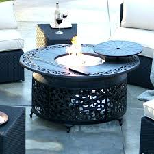 small fire pit table red ember cast aluminum in round gas propane set sets full