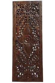 Wood Carved Wall Decor Elegant Medallion Wood Carved Wall Plaque Round Wood Carved