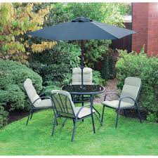 6 piece padded cushion patio set