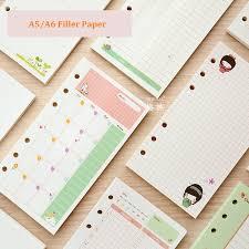 <b>A5 A6 Cute Creative</b> Colored Diario Binder Filler Paper Office ...