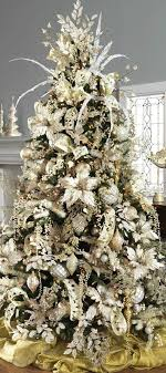 A great frosted gold Christmas tree - wonderfully classic and elegant.