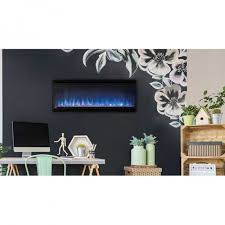depth electric fireplace black surround zoom