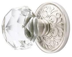 glass door knobs. Exellent Knobs Emtek Crystal Diamond Door Knob Set On Glass Knobs