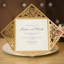 unique gold rose laser cut wedding invitation cards swws005 Laser Cut Wedding Place Cards gold rose laser cut wedding invitation cards swws005_2 black laser cut wedding place cards