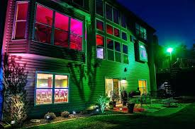 full image for color changing led landscape lighting kits wonderful rgb led outdoor lighting amazing ideas