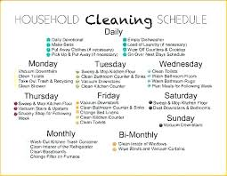 Daily Weekly Monthly Chores Family Chore Chart Templates Doc Excel Free Premium House Cleaning