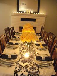 Black white and Yellow Anniversary Party | Party Decorations ...