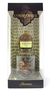 cognac brandy courvoisier miniature gl thorntons chocolates gift set