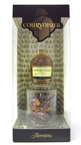 cognac brandy courvoisier miniature gl thorntons chocolates gift set