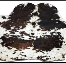 details about exotic cowhide rug real hair on fur leather natural cow skin peau vache 81x80